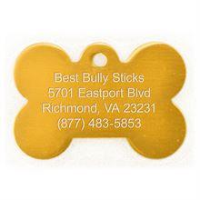 Best Bully Sticks Dog ID Tag - Bone - Large/Gold