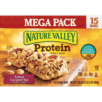 Nature Valley Protein Salted Caramel Nut Chewy Bar 15 Count