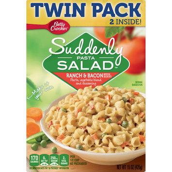 Betty Crocker Suddenly Salad, Ranch & Bacon Pasta Salad Dry Meals, 2 Pack, 15oz