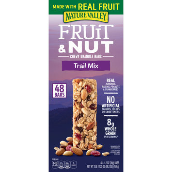 Nature Valley Fruit and Nut Chewy Trail Mix Granola Bars 48 Count, 59.2 oz