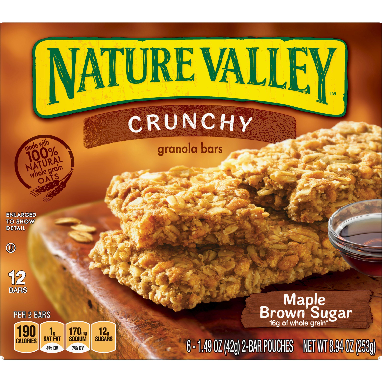 Nature Valley Crunchy Granola Bar Maple Brown Sugar 12 Bars, 8.94 oz