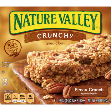 Nature Valley Granola Bars  Crunchy, Pecan Crunch, 8.94 Ounce (Pack of 12)