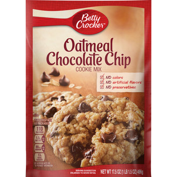 Betty Crocker Oatmeal Chocolate Chip Cookie Mix, 17.5 oz