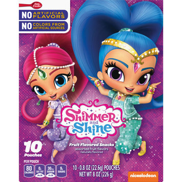 Betty Crocker Shimmer and Shine Fruit Flavored Snacks 10Ct Carton, 10 ct, 8 oz