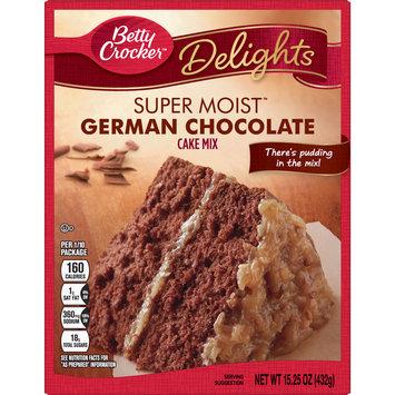 Betty Crocker Super Moist German Chocolate Cake Mix, 15.25 oz