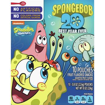 Betty Crocker Fruit Snacks, SpongeBob SquarePants Snacks, 10 Pouches, 0.8 oz Each