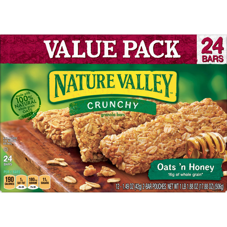 Nature Valley Granola Bars  Crunchy, Oats 'n Honey, 17.88 Ounce