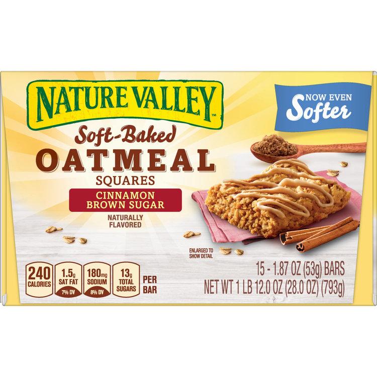 Nature Valley(tm) Cinnamon Brown Sugar Soft-Baked Oatmeal Bars