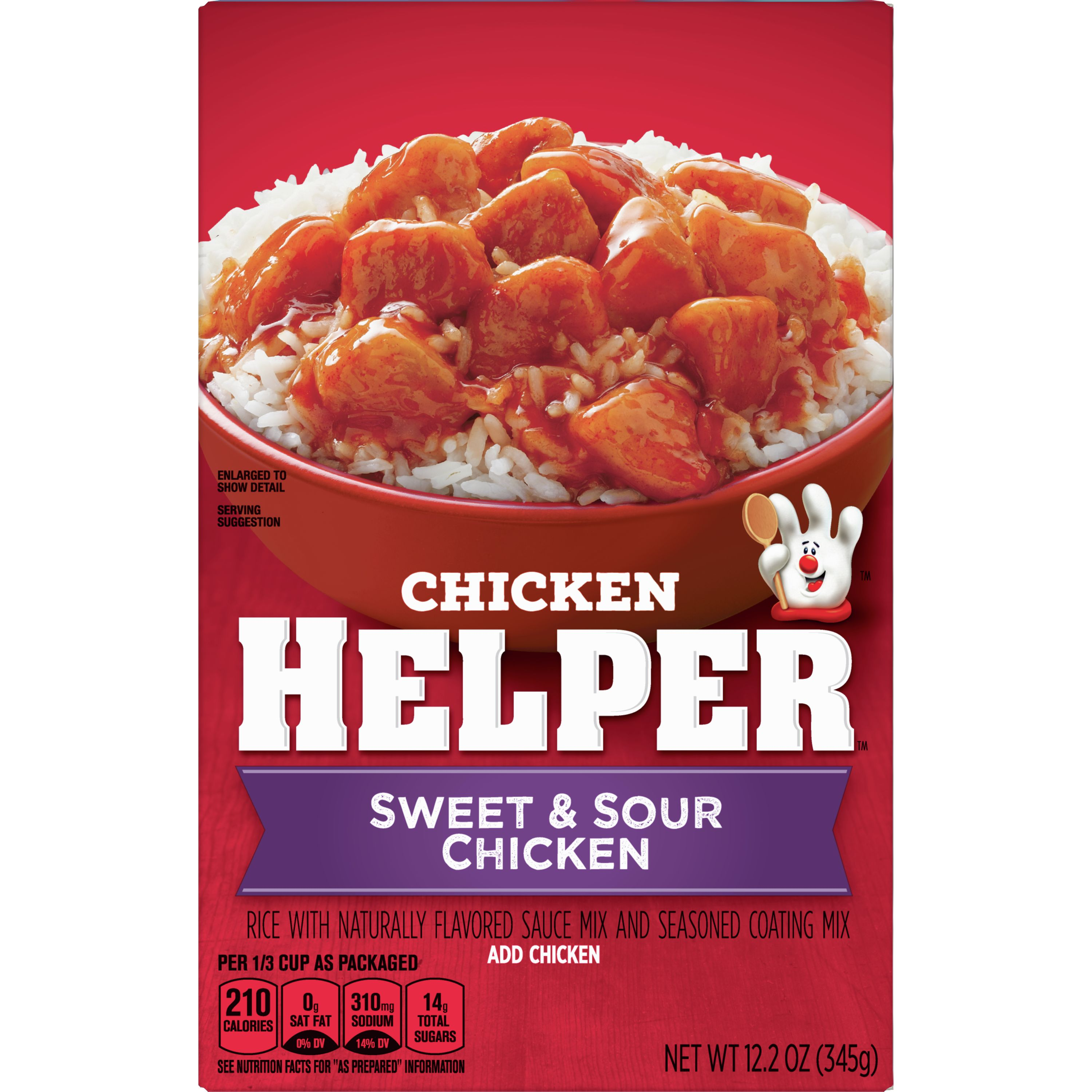 Chicken Helper Rice With Sauce Mix and Seasoned Coating Mix Sweet and Sour Chicken, 12.2 oz