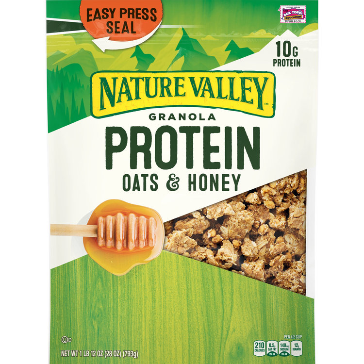 Nature Valley Oats 'N Honey Protein Crunchy Granola, 28 oz