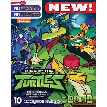 Betty Crocker Fruit Snacks, Teenage Mutant Ninja Turtles Snacks, 10 Pouches, 0.8 oz Each