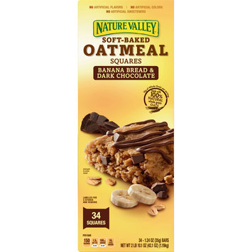 Nature Valley Banana Bread and Dark Chocolate Soft-Baked Oatmeal Squares, 42.1 oz