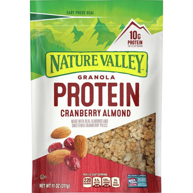 Nature Valley Granola, Protein, Cranberry Raisin Almond, 11 oz pouch
