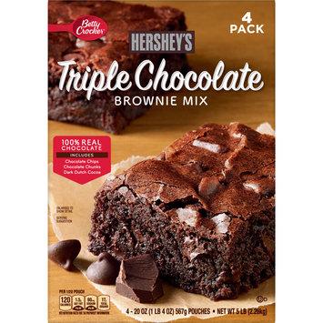 Betty Crocker Hershey's Triple Chocolate Brownie Mix, 80 oz
