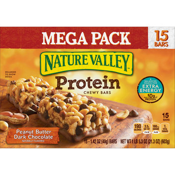 Nature Valley Protein Granola Bar, Gluten Free Peanut Butter Dark Chocolate 30ct