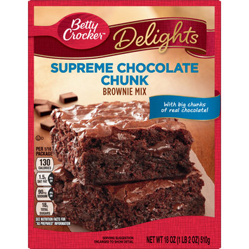 Betty Crocker Delights Brownie Mix Supreme Chocolate Chunk, 18 oz