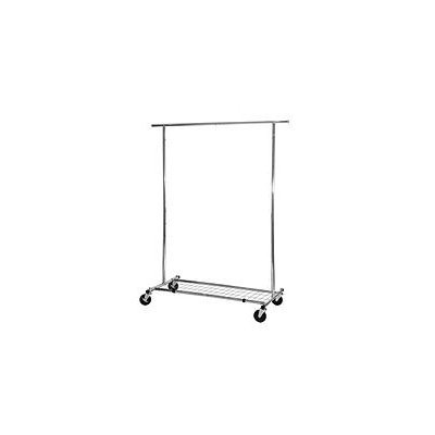Seville Classics Commercial Grade Garment Rack with Storage Shelf