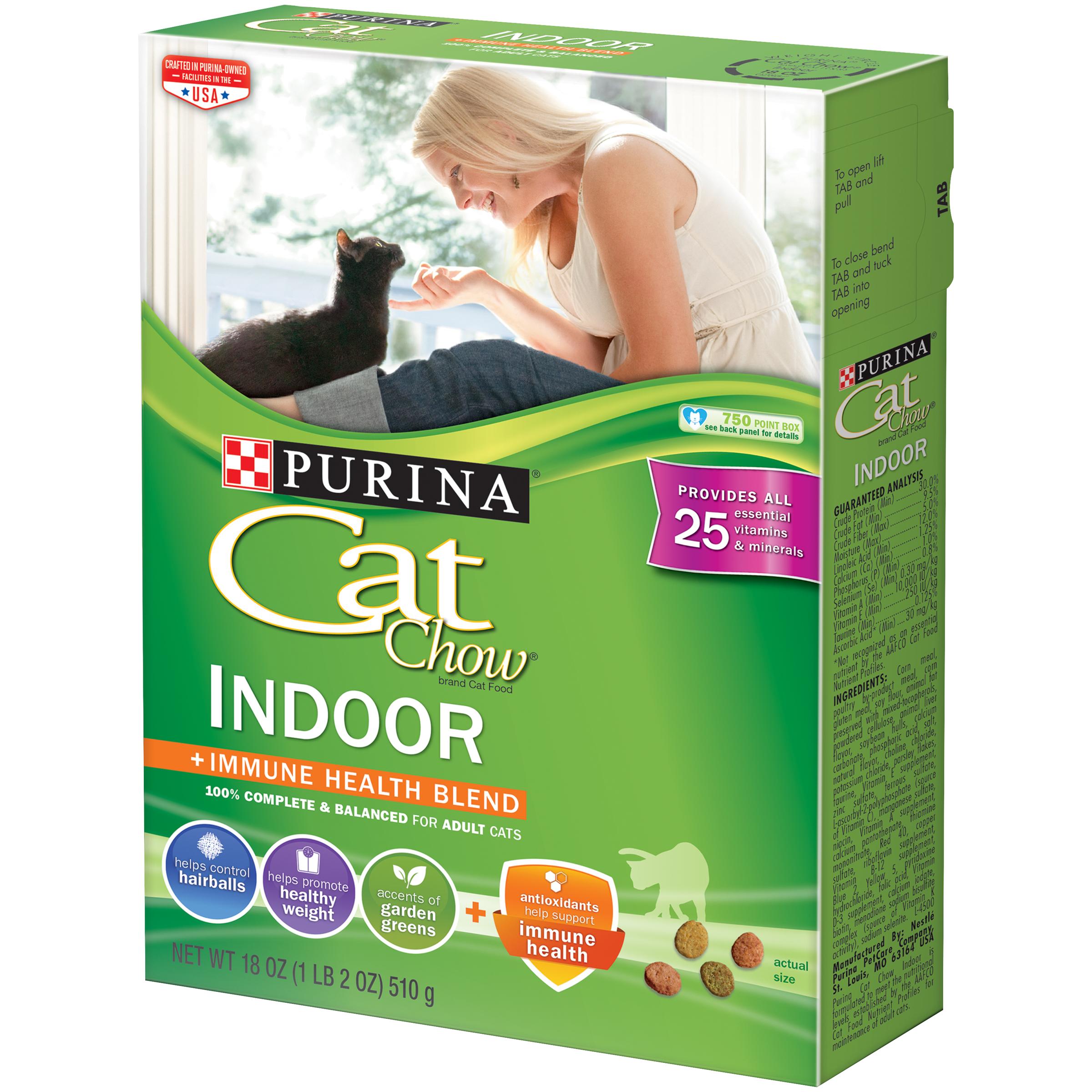 Purina Cat Chow Indoor Adult Dry Cat Food - 18 oz. Box