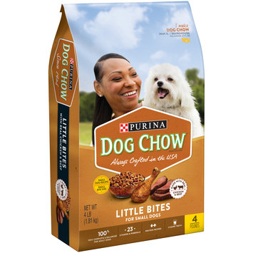 Purina Dog Chow Small Breed Dry Dog Food; Little Bites With Real Chicken & Beef