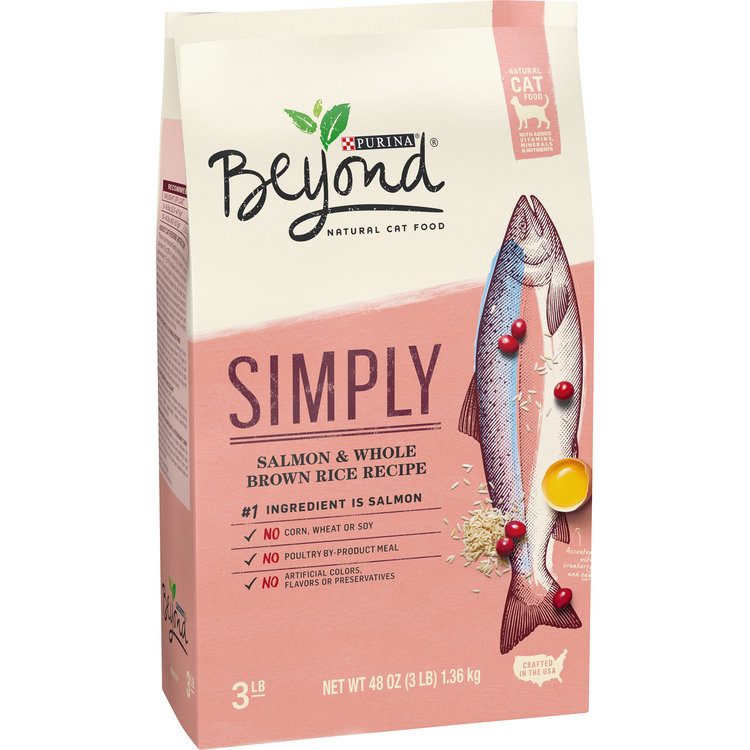 Purina Beyond Cat Food >> Purina Beyond Natural Limited Ingredient Dry Cat Food Simply Salmon Whole Brown Rice Recipe 3 Lb Bag