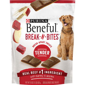 Purina Beneful Break-N-Bites Tender Real Beef With Barley & Apples Dog Treats -