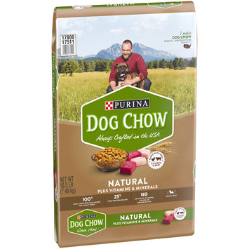 Purina Dog Chow Natural, High Protein Dry Dog Food; Natural