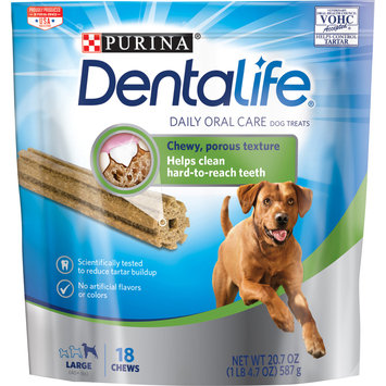 Purina DentaLife Made in USA Facilities Large Dog Dental Chews; Daily