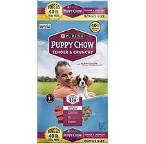 Purina Puppy Chow Tender and Crunchy Puppy Food 40 lb. Bonus Bag