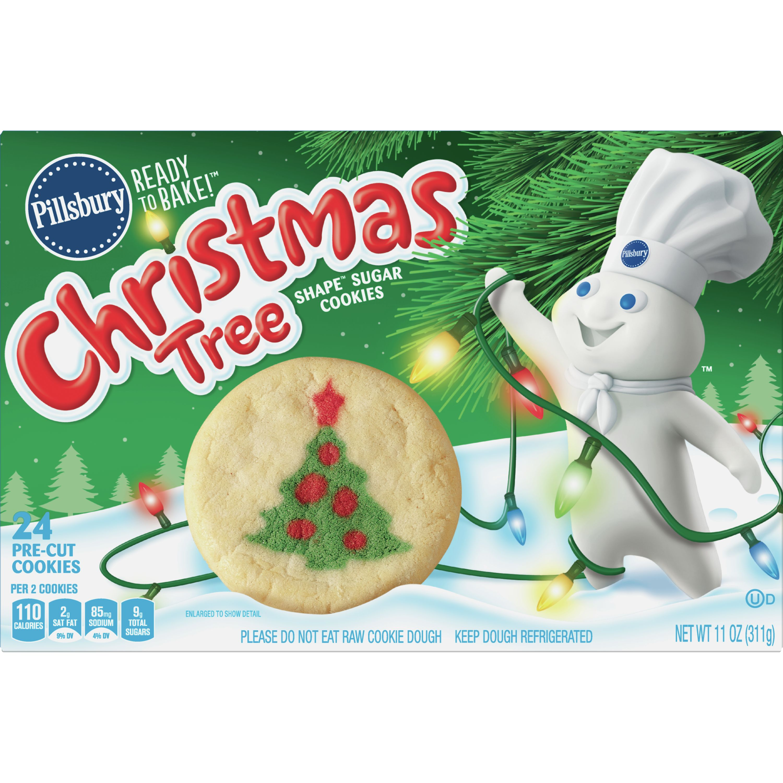 Pillsbury Ready to Bake! Christmas Tree Shape Sugar Cookies