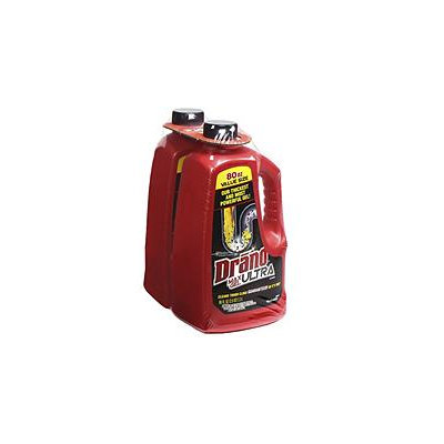 Drano Ultra Max Gel Clog Remover, 80 Fluid Ounce Bottles, 2 Count
