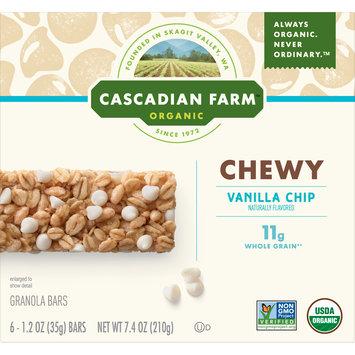 Cascadian Farm Organic Granola Bars, Vanilla Chip Chewy Granola Bars, 6 Bars