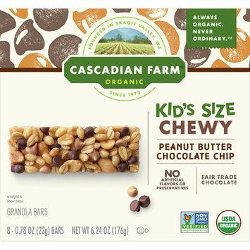 Cascadian Farm Organic Non-GMO Peanut Butter Chocolate Chip Chewy Granola Bar, 6.24 oz