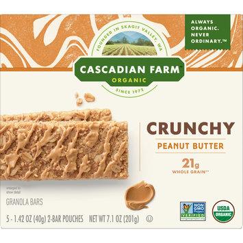 Cascadian Farm Organic Crunchy Granola Bar Non-GMO Peanut Butter, 7.1 oz