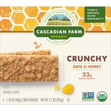 Cascadian Farm Organic Granola Bars, Oats and Honey Crunchy Granola Bars 5 Pouches (2 Bars per Pouch)