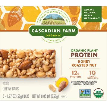 Cascadian Farm Organic Protein Bars, Chewy Granola Bars, Honey Roasted Nut, 5 Bars