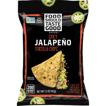 Food Should Taste Good Jalapeno, Gluten Free, Tortilla Chips