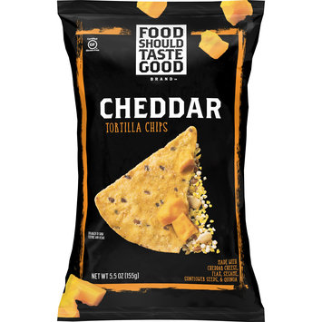 Food Should Taste Good Cheddar Tortilla Chips, Gluten Free,  5.5 oz