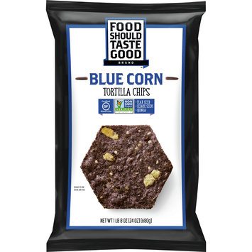 Food Should Taste Good Blue Corn Tortilla Chips, Gluten Free, 24 oz