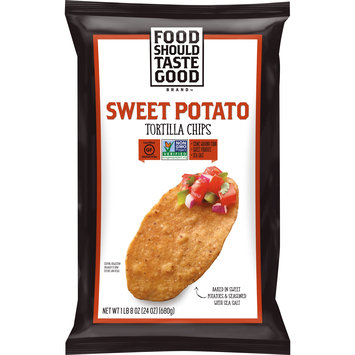 Food Should Taste Good Sweet Potato Tortilla Chips, Gluten Free, 24 oz