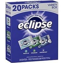 Eclipse Gum Variety Pack (18 pc. packs, 20 ct.)