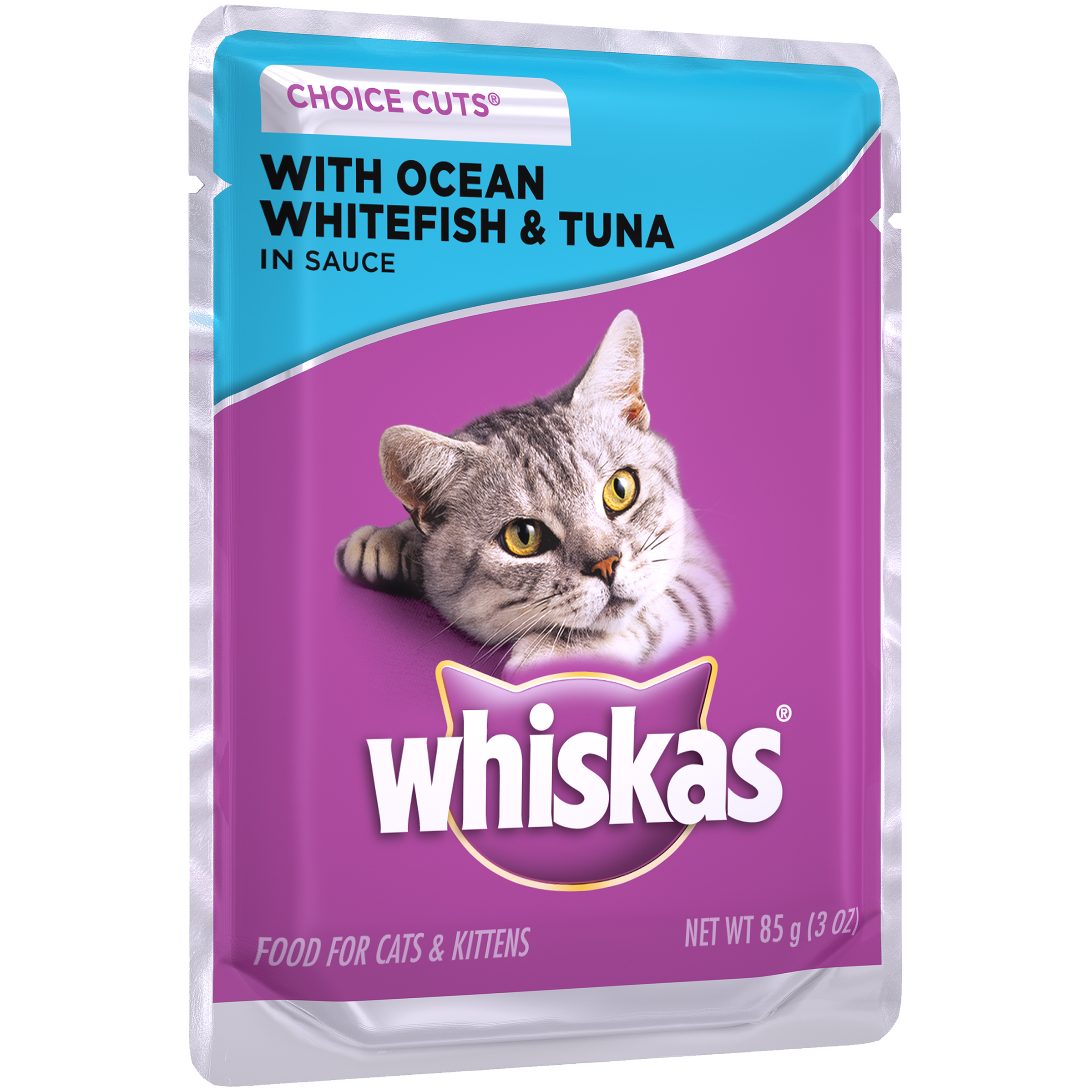 Whiskas® Choice Cuts® with Ocean Whitefish & Tuna in Sauce Wet Cat Food