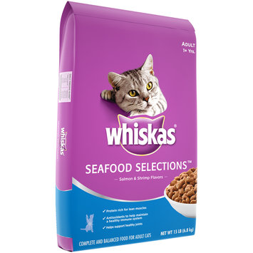 Whiskas® Seafood Selections™ Salmon & Shrimp Flavors Adult Dry Cat Food