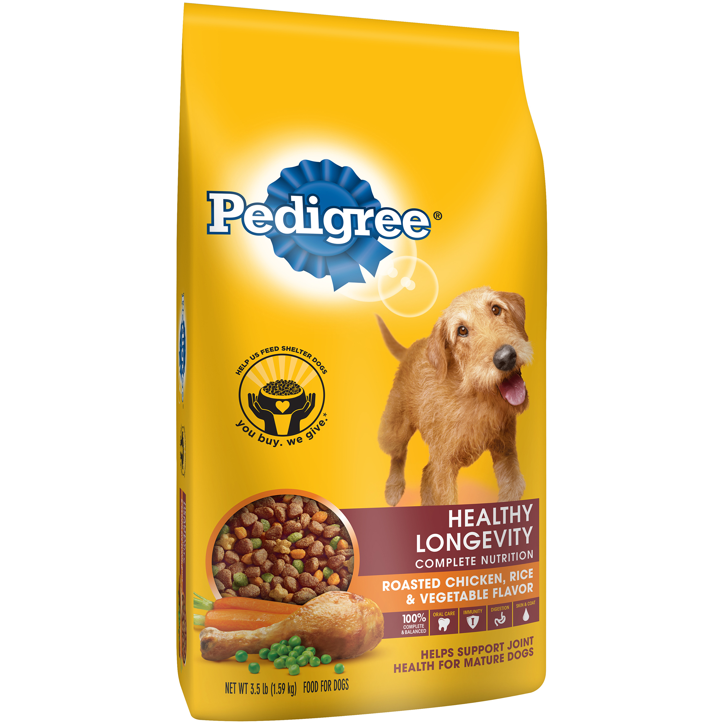 Pedigree® Healthy Longevity Complete Nutrition Roasted Chicken, Rice & Vegetable Flavor Dog Food
