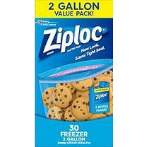 Ziploc Freezer Bags, 2 Gallon
