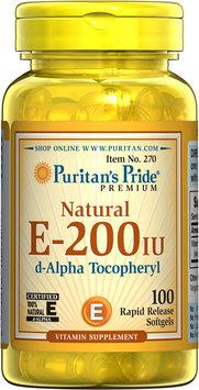 Puritan's Pride Vitamin E-200 iu 100% Natural-100 Softgels