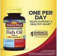 Nature Made 1400mg Ultra Omega-3 Fish Oil (130 ct.)
