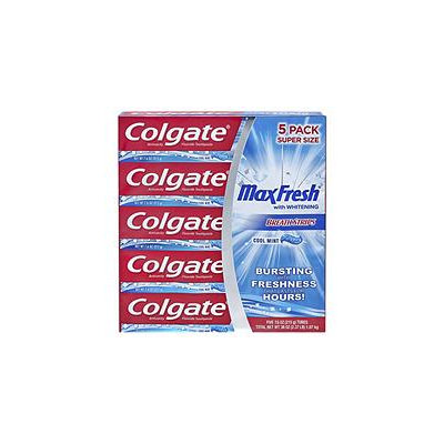Colgate MaxFresh Toothpaste, Cool Mint (7.6 oz, 5 pk.)