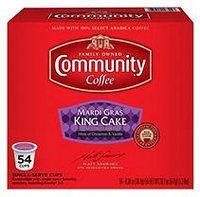 Community Coffee Single-Serve Pods Medium Roast, Mardi Gras King Cake (54 ct.)