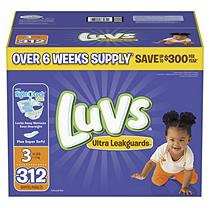 Luvs Ultra Leakguards Diapers, Size 3 (312 ct.)