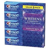 Crest 3D White Toothpaste, Radiant Mint (5.4 oz, 5 pk.)